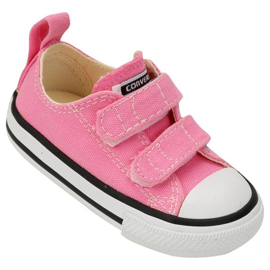 dc89ee4bd00 Tênis Infantil Converse Chuck Taylor All Star 2 Velcros Baby - Rosa ...