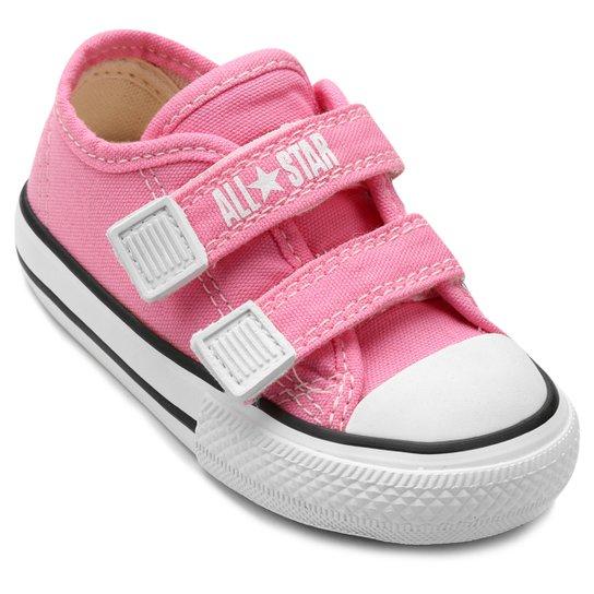 d94d66c9415 Tênis Infantil Converse All Star CT Border 2 Velcros Baby - Rosa ...