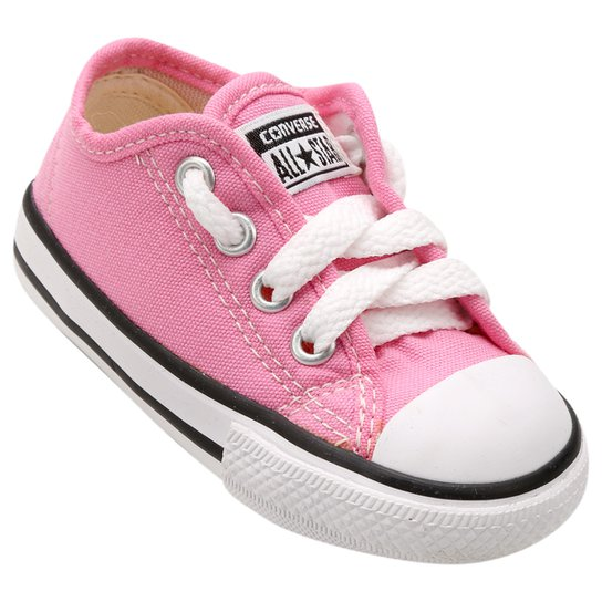 c7aad17f4a4 Tênis Infantil Converse All Star Chuck Taylor Border Baby - Rosa ...