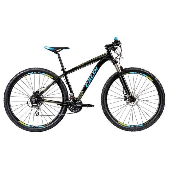 9cf8cf17d Bicicleta Aro 29 MTB Caloi Atacama T19 - Preto e Azul