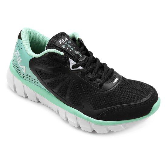 4edd4d6078 Tênis Fila Escape Feminino - Preto e Verde Água | Netshoes