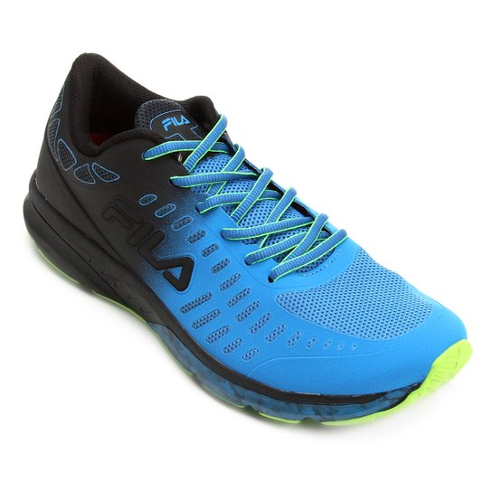 5ee34eb00a4 Tênis Fila Fxt Grid Transition Masculino - Azul Turquesa+Verde Limão