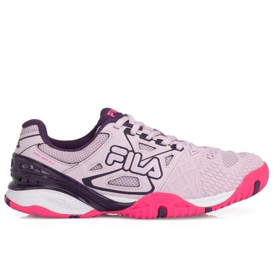 bfa04ff5c Tênis Fila Cage Delirium Indoor Rosa Claro e Roxo-34 - Rosa | Netshoes