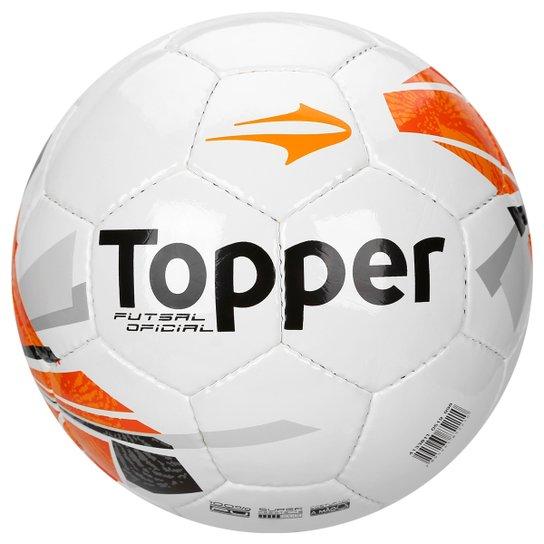 9c71a55893aa7 Bola De Futebol Topper Strike - Topper - Futsal - Branco Azul - Branco+