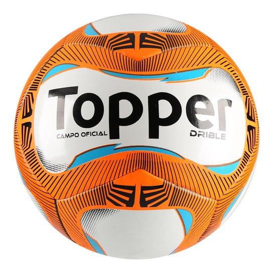 Bola Futebol Campo Topper Drible - Branco e Laranja - Compre Agora ... 8e0890e10aceb
