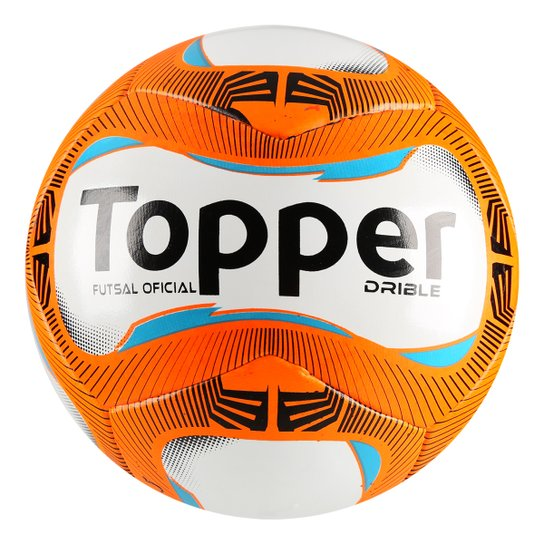 Bola Futsal Topper Drible - Branco+Laranja d62d95bd469c6