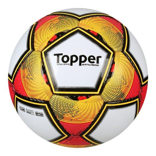 Bola Futsal Topper Artilheiro - Branco+Laranja f5668034ffa13