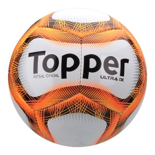 c5279742d1 Bola Futsal Topper Ultra Ix - Branco+Laranja