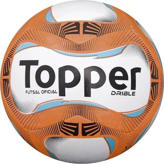 Bola Futsal Topper Drible - Branco+Laranja 8eca69a646722