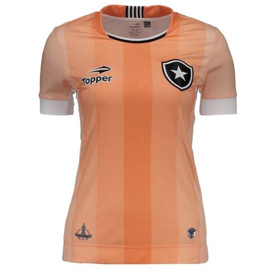 3f1f8487d6 Camisa Topper Botafogo III 2016 Feminina - Rosa - Compre Agora ...