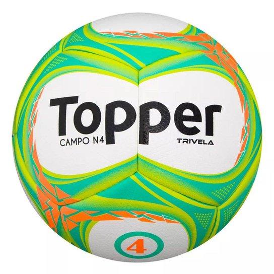 Bola de Futebol Topper Campo Trivela V Nº4 - Branco+Laranja 1996c2cdc65f0