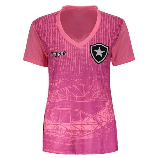 ac603e548373b Camisa Topper Botafogo 2018 Outubro Rosa Feminina - Rosa - Compre ...