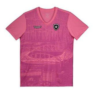 Camisa Topper Botafogo 2018 Outubro Rosa Juvenil 9d429b389791f