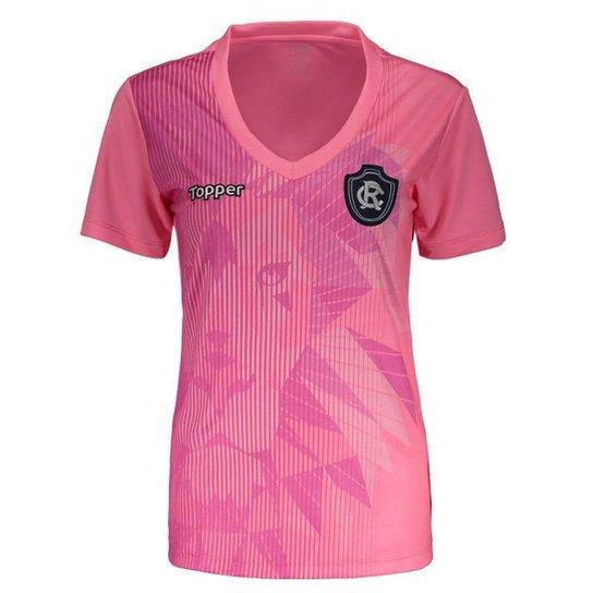 360977ba44 Camisa Topper Remo 2018 Outubro Rosa Feminina - Rosa - Compre Agora ...