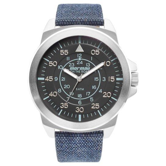 6c4b46f7f18 Relógio Mormaii Analógico MO2035IG-3K Masculino - Preto e Azul ...