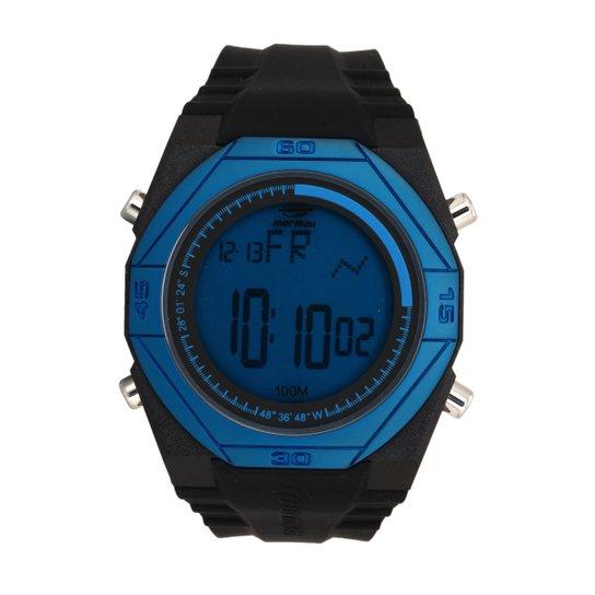 6e397d7a29a Relógio Mormaii Digital Nautique - Preto e Azul - Compre Agora ...