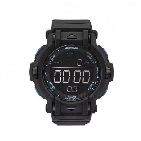 2f4bfeca16b Relógio Mormaii Digital MOM08111B8A - Preto e Azul - Compre Agora ...