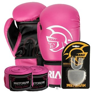 5ea45a2845 Kit Boxe First Pretorian Bucal + Bandagem + Luva 1