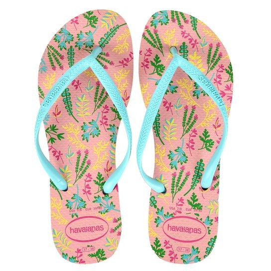 Sandália Havaianas Slim Romance Cf Feminina - Rosa - Compre Agora ... 680a980106497