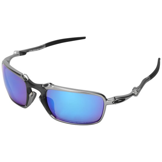 e2b3fbef2 Óculos Oakley Badman - Polarizado - Preto+Azul