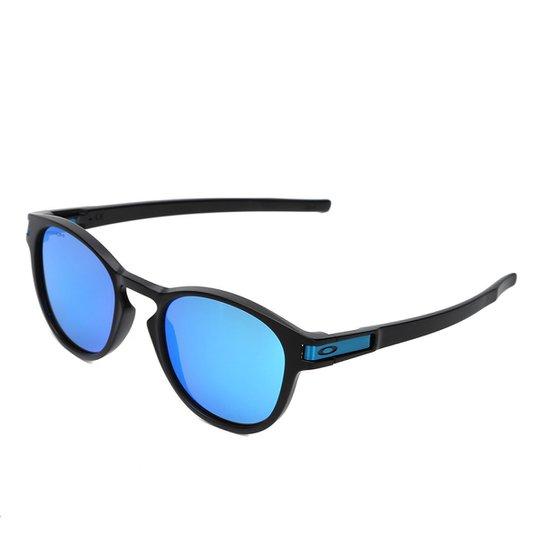 bf200dc4a6275 Óculos de Sol Oakley Latch Masculino - Preto e Azul - Compre Agora ...