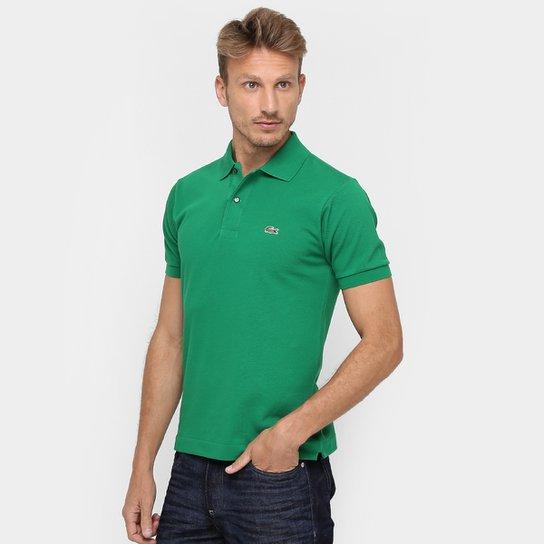 ee82b65a23e Camisa Polo Lacoste Original Fit Masculina - Verde e Branco - Compre ...