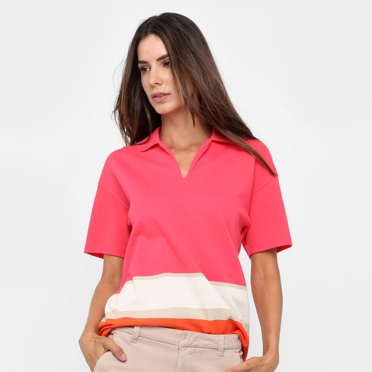 a3567dbcff6 Camisa Polo Lacoste Listras Feminina - Compre Agora