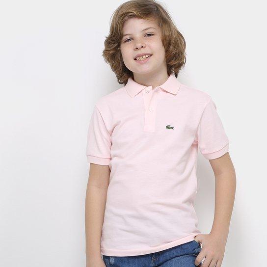 Camisa Polo Infantil Lacoste Masculina - Rosa - Compre Agora  1cbd130a2e2b6