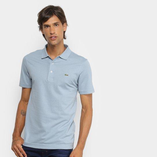 d08ee4c2344bf Camisa Polo Lacoste Logo Super Light Masculina - Azul e Verde ...