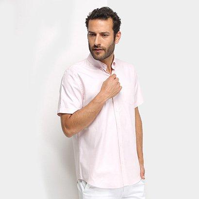 Camisa Manga Curta Lacoste Lisa Bolso Masculina