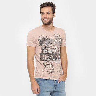 0df7db76ea2d8 Camiseta Calvin Klein Full Print Frente