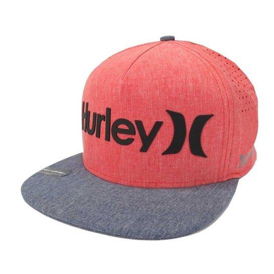 c8ada3b0b1e05 Boné Hurley Phantom Aba reta Snapback Rosa Azul - Compre Agora ...
