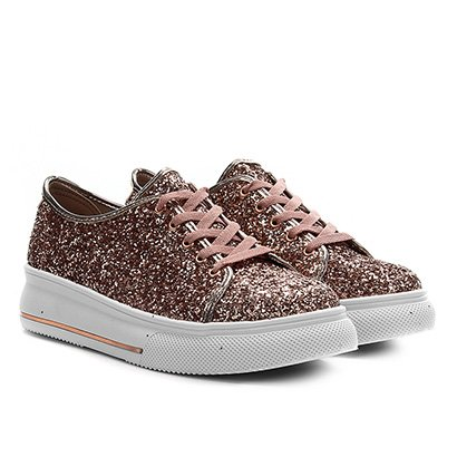 Sapato Infantil Molekinha Max Glit Glam Metal Color Feminino