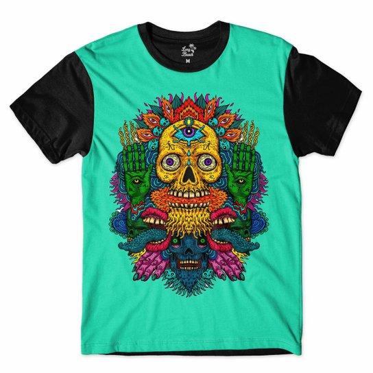 Camiseta Long Beach Caveira Sublimada Masculina - Compre Agora ... 7a6a634f641