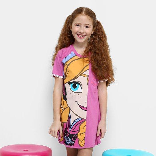 faaf2e47470b7e Camisola Infantil Lupo Frozen Anna Feminino - Rosa