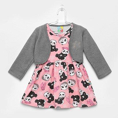 Vestido Infantil Bee Loop Estampa Panda Bolero