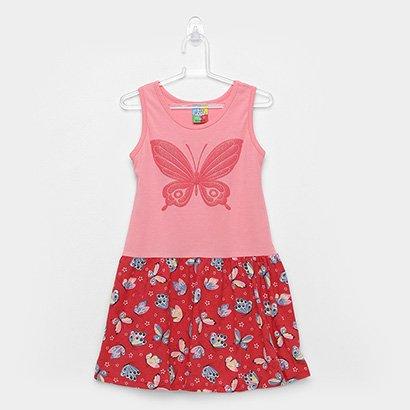 Vestido Infantil Bee Loop Regata Borboletas