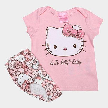 Conjunto Infantil Up Baby Suedine Hello Kitty Feminino