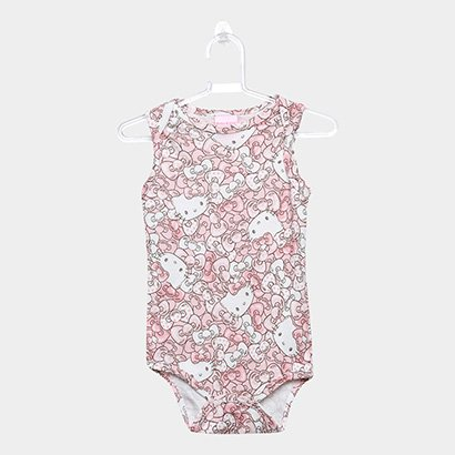 Body Infantil Up Baby Suedine Hello Kitty Feminino