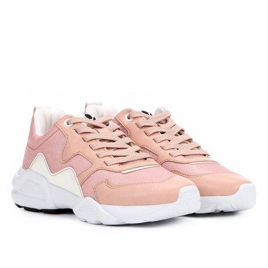 bf54123f50 Tênis Chunky Cravo   Canela Dad Sneaker Feminino - Rosa - Compre ...