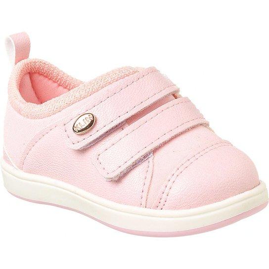 d83604101e6 Tênis Bebê Klin Mini Gloss Velcros Feminino - Rosa - Compre Agora ...