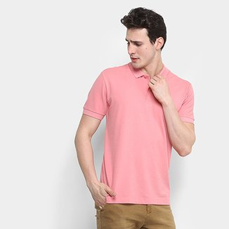 Compre Camisa Polo Rosa Masculina Online  c8817ad7bbf0a