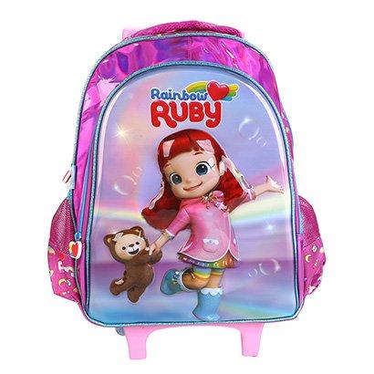 Mochila Infantil Escolar Pacific De Rodinhas Rainbow Ruby Pacific-981D01