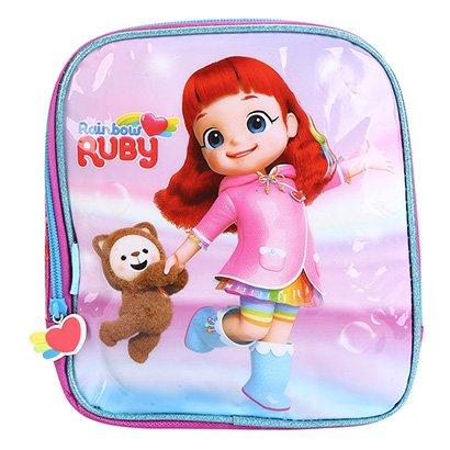 Lancheira Escolar Infantil Pacific Estampa Rainbow Ruby Feminina