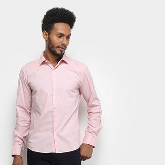 9f157a1f99 Camisa Manga Longa Ellus Tricoline Slim Masculina