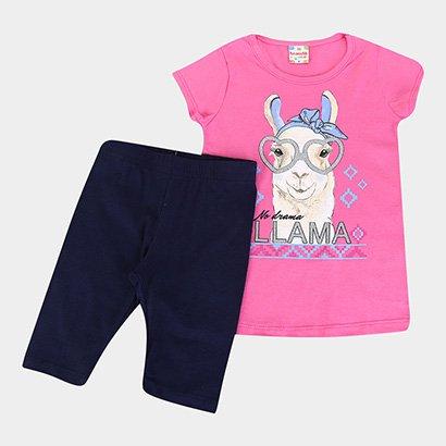 Conjunto Infantil Brandili Lhama Feminino