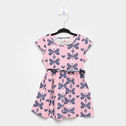 Vestido Infantil Brandili Floral Cinto