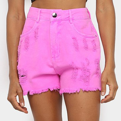 Shorts Jeans Lança Perfume Super High Feminino