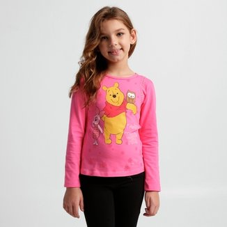 Blusa Disney Winnie The Pooh Infantil eb536ca514d