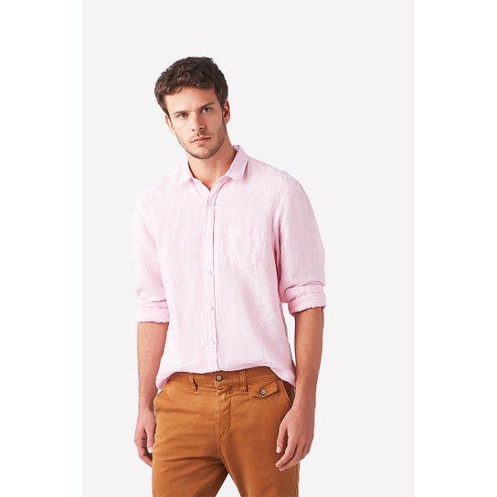 3c9e30051b3fc Camisa Foxton Ml Linho Paraiso Masculina - Compre Agora